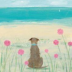 Among the Sea Pinks (HC101F) Beach and Coastal Print by Hannah Cole http://www.thewhistlefish.com/product/hc101f-among-the-sea-pinks-framed-art-print-by-hannah-cole