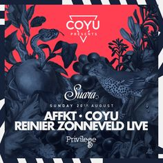 #housemusic Coming up at Suara... Privilege Ibiza: Suara 20th & 27th of August and 3rd of September AFFKT, Reinier Zonneveld, Charlotte de…