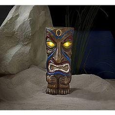 -18in Solar Tiki Statue