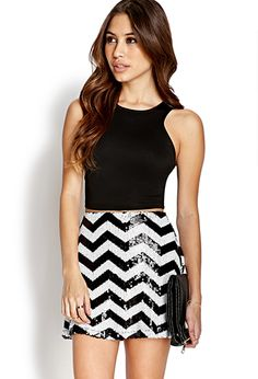 Mod Sequined Skater Skirt   FOREVER 21 - 2031557919 Birthday outfit option