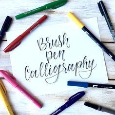 Brush Pen Calligraphy for Beginners -Free Printable Practice Sheets Scribbling Grace Brush Lettering Worksheet, Calligraphy Worksheet, Hand Lettering For Beginners, Brush Pen Calligraphy, Hand Lettering Styles, Calligraphy Practice, How To Write Calligraphy, Calligraphy Handwriting, Calligraphy Writing