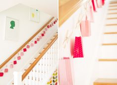 Stairway Advent Calendar - Great idea for when the boys are a bit older and won't pull it down!