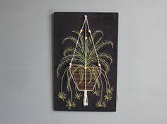 Large Hanging Plant String Art by GallivantingGirls on Etsy
