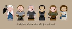 Daenerys Targaryen & Company - Game of Thrones TV Characters - Cross Stitch Pattern by AmazingCrossStitch on Etsy https://www.etsy.com/listing/183656816/daenerys-targaryen-company-game-of