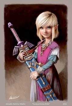 Young Zelda.