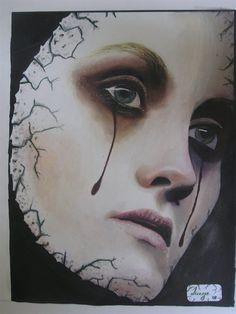 women - mask of sadness by Jorge Zarou