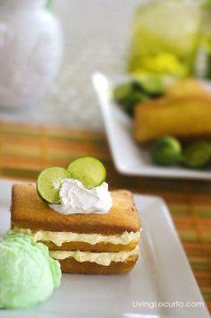 Key Lime Shortcake. A delicious and easy dessert recipe! Livinglocurto.com