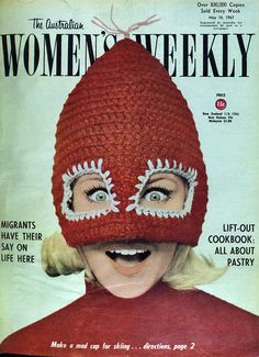 Mad cap for skiing 1967