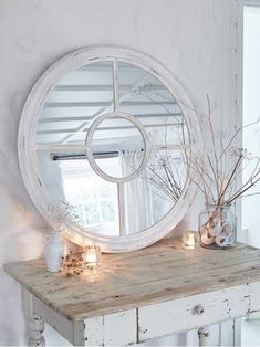 """Loft Style Window Mirror - """"through the round window. Wall Mirrors Uk, Hallway Mirror, Window Mirror, Round Mirrors, Bedroom Mirrors, Mantle Mirror, Hall Mirrors, Mirror Mirror, Industrial Mirrors"""