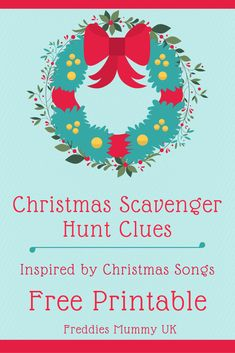 Christmas Treasure Hunt Clues - Inspired by Christmas Songs. Free Christmas printable : Christmas Treasure Hunt Clues - Inspired by Christmas Songs. Christmas Games For Kids, Christmas Activities, Christmas Themes, Activities For Kids, Christmas Crafts, Winter Activities, Christmas Carol, Christmas Holidays, Family Holiday