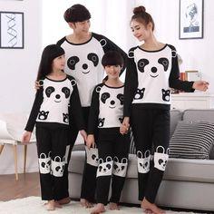 f6fa5e5940 Family Look Christmas Pajamas Cartoon Panda Kids Pyjamas Girls Boys Pijamas Matching  Mother Father Son Daughter Clothes Outfits