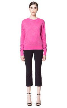 JACQUARD PATTERN SWEATER - Knitwear - Woman - ZARA United Kingdom