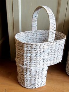 White Stair Basket