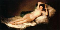 La Maja Desnuda. Goya. Romanticismo. S. XVIII.