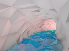 Dribbble - Ice Cave GIF by Victor Cinq-Mars #lowpoly
