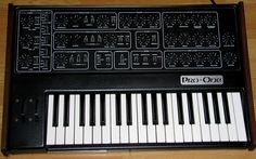 A Sequential Circuits Pro-One monophonic synthesizer. A bit like a cheap Minimoog with a good modulation section. Vince Clarke used this synth on the song 'Don't Go' by Yazoo (as well as others) Similarly, he used it with the group Erasure on many of their songs too.
