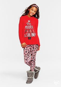 Could these candy cane printed leggings be any sweeter?