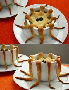 tentacle pot pie food design and styling Cute Food, Good Food, Yummy Food, Fete Halloween, Halloween Treats, Halloween Dinner, Food Design, Snacks Für Party, Food Humor