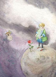 """Маленький принц"" и его иллюстраторы   картинки и разговоры   Яндекс Дзен Illustrations, Book Illustration, Watercolor Illustration, Watercolor Art, Little Prince Quotes, The Little Prince, But Is It Art, Look At The Sky, Fairy Tales"