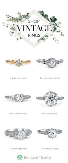 As timeless and unique as your love, our collection of vintage and antique rings originates from romantic eras of the past. Our one-of-a-kind jewelry is a distinctive choice you'll treasure forever.