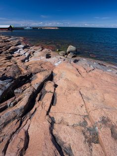 The Åland islands are notable for rural landscapes, red granite beaches and their status of almost independence, with their own flag and language, Swedish. Scandinavian Countries, Baltic Sea, Archipelago, Finland, Seaside, Places To Go, Ocean, Explore, Landscape