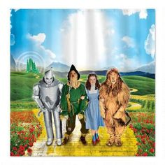 Add Some Flair To Your Bathroom With The Wizard Of Oz Shower Curtain This Sublimated