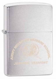 Brushed Chrome Personalized Zippo Lighter