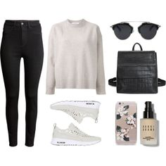 IT GIRL by baludna on Polyvore featuring Le Ciel Bleu, H&M, NIKE and Bobbi Brown Cosmetics
