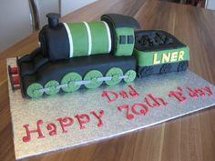 Steam Train Cake / Dampflok Torte by mehralsnureinetorte, via Flickr