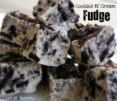 Cookies n' Cream Fudge! Would make a great holiday treat for your friends and neighbors!