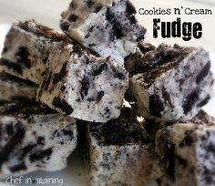 cookies n' cream fudge yummy!