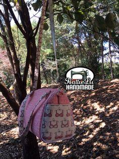 Barrel Bag, vintage barrel bag, Breast Cancer Awareness, Breast Cancer, Blanche, Blanche Barrel Bag, Swoon, Swoon bag, Swoon Blanche by HattieLuHandmade on Etsy