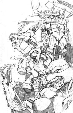 Ninja Turtles by Eddie Nunez