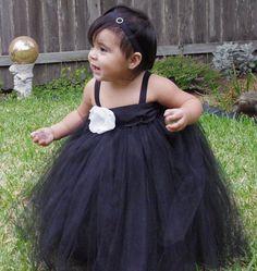 Black Tux Tutu Dress.....Flower Girl/Wedding Collection 2013 FloppyBunnyBoutique, $65.00