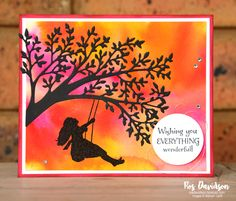 Stampin' Up! pigment sprinkles card featuring silhouette scenes bundle from 2019 - 2020 annual catalogue along on to adventure stamp set Silhouette Images, Silhouette Design, Diy And Crafts, Paper Crafts, Kid Ink, Card Making Tips, Birthday Thank You, Fathers Day Cards, Cool Backgrounds