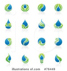 Royalty-Free (RF) Water Drop Clipart Illustration by elena - Stock ...
