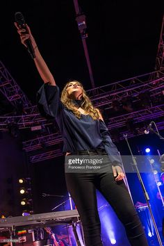 Francesca Michielin performs on stage on October 6, 2016 in Milan, Italy.