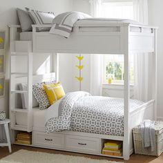 Hampton Bunk Bed | PBteen #BedroomIdeas #Homes #BunkBeds