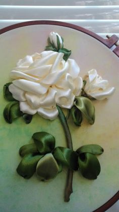 Wonderful Ribbon Embroidery Flowers by Hand Ideas. Enchanting Ribbon Embroidery Flowers by Hand Ideas. Ribbon Embroidery Tutorial, Hand Embroidery Flowers, Silk Ribbon Embroidery, Hand Embroidery Patterns, Embroidery Kits, Embroidery Designs, Embroidery Supplies, Embroidery Stitches, Machine Embroidery