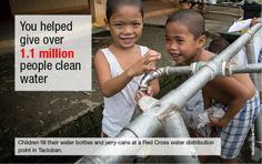 Typhoon Haiyan: 3 months on-what you have helped us achieve You Make A Difference, Jerry Can, Tweet Tweet, Red Cross, 3 Months, Change, Children, How To Make, Young Children