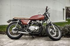 Kawasaki KZ400 Brat Style by Rubén Gonzalez 1