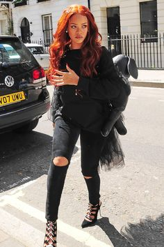 Rihanna out and about in London. (26th May 2015)