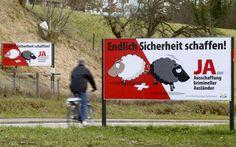 """Plakate der Schweizerischen Volkspartei: """"Endlich Sicherheit schaffen!"""""""