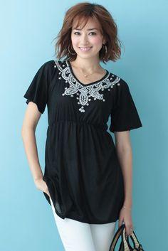 Bijou Tunic (Black)   Cherry Ann Online Shop Cherry Ann, Tunic Tops, Blouses, Shopping, Black, Women, Fashion, Moda, Black People