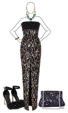 """Red Carpet Affair"" by shirley-degannes ❤ liked on Polyvore featuring Rasario, Nasty Gal, Oscar de la Renta, Kimberly McDonald and Dolce&Gabbana"