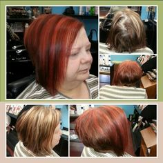 Blonde to red color make over
