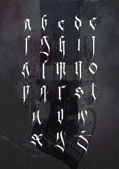 I'm proud to present my personal gothic alphabet. It is based on Fraktur. A lot of glyphs are transformed and renewed. Enjoy!
