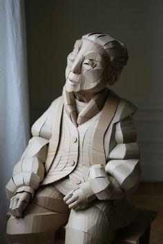 Escultura de anciana Japonesa