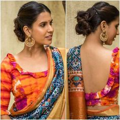Love ruffle blouse, spot the love ikat saree too