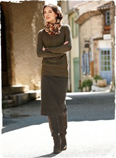 Love the look... Renata Pencil Skirt - Peruvian Connection